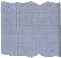 Letter from Hugh Black to Mary Black. Circa 1863
