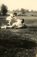 Baseball Game-Stella Valenti and Dorothy Bryant McGahagin