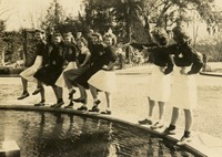 Students Dancing on Westcott Fountain