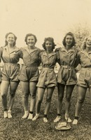 Five Women in Sports Uniforms