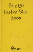 Field notebook of Katherine Baar, Castro Site, January 2000