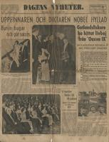 Swedish article about the success of the 1933 Nobel Prize ceremony