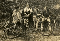Four Women with Bicycles