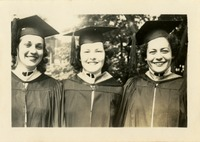 Victoria Lewis, Jayne Rainey and Dorothy McGahagin  Wearing Caps and Gowns
