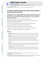 Is childhood trauma associated with lifetime suicide attempts in women with bulimia nervosa?