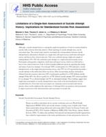 Limitations of a single-item assessment of suicide attempt history
