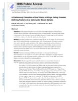 preliminary evaluation of the validity of binge-eating disorder defining features in a community-based sample.