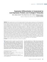 Expression Differentiation Is Constrained to Low-Expression Proteins over Ecological Timescales.