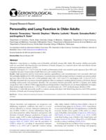 Personality and Lung Function in Older Adults.