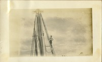 Student Aboard Anna M. Hudson, in Rigging