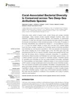 Coral-Associated Bacterial Diversity Is Conserved across Two Deep-Sea Anthothela Species.