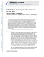 Replication timing and transcriptional control
