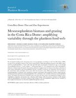 Mesozooplankton biomass and grazing in the Costa Rica Dome
