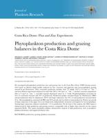 Phytoplankton production and grazing balances in the Costa Rica Dome.