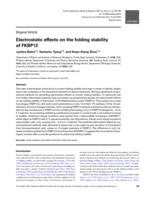 Electrostatic effects on the folding stability of FKBP12.
