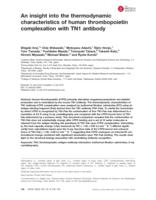insight into the thermodynamic characteristics of human thrombopoietin complexation with TN1 antibody.
