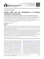 Feeling Older and the Development of Cognitive Impairment and Dementia.