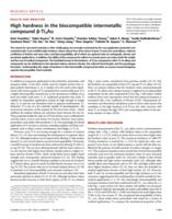 High hardness in the biocompatible intermetallic compound β-Ti3Au.