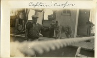 Captain Cooper and His Dog Aboard Anna M. Hudson