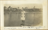Woman on Dock at Camp Flastacowo