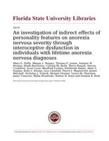 investigation of indirect effects of personality features on anorexia nervosa severity through interoceptive dysfunction in individuals with lifetime anorexia nervosa diagnoses