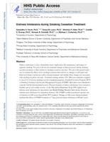 Distress intolerance during smoking cessation treatment.