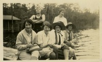 7 Women Sitting on Dock