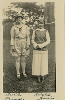 Lucile Summer and Ainslie Harris in Costume