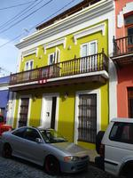 Bright Yellow Casa (two story house), San Juan, Puerto Rico