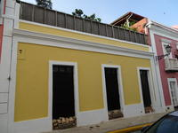 Yellow Casa (single story house), San Juan, Puerto Rico