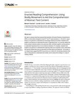 Enacted Reading Comprehension