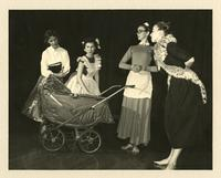 Maxine Fletcher, Peggy Debolt, Betsy Pinkerton and Betty Ann Ray in Park Scene