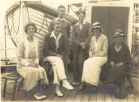 "Shipboard: ""Liverpool"". Florence Dirac with passengers"