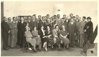 Shipboard. Paul Dirac and other passengers
