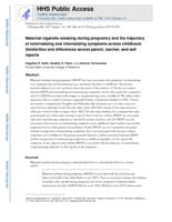 Maternal cigarette smoking during pregnancy and the trajectory of externalizing and internalizing symptoms across childhood