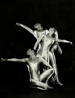 Three dancers performing Myth