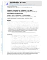 Integrative analysis of sex differences in the rapid antidepressant effects of ketamine in preclinical models for individualized clinical outcomes.