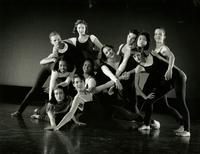 Group of dancers from the Dance Repertory Theatre posing in 1992