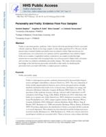 Personality and Frailty
