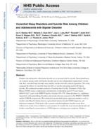 Comorbid sleep disorders and suicide risk among children and adolescents with bipolar disorder.