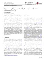 Measurement of the jet mass in highly boosted [Formula
