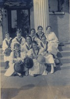 Nine Girls on Steps