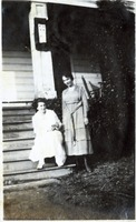 Two Girls on Porch