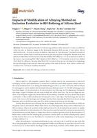 Impacts of Modification of Alloying Method on Inclusion Evolution in RH Refining of Silicon Steel.