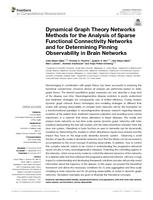 Dynamical Graph Theory Networks Methods for the Analysis of Sparse Functional Connectivity Networks and for Determining Pinning Observability in Brain Networks.
