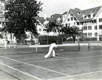 Tennis courts at the Belleview-Biltmore Hotel