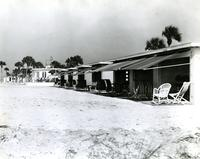 Beach shelters on the grounds of the Belleview-Biltmore Hotel