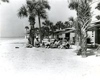 Group on the beach at the Belleview-Biltmore Hotel