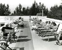 Guests sunbathing at the Belleview-Biltmore Hotel
