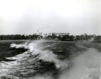 Waves with the Belleview-Biltmore Hotel in the background